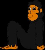 chimp N smiling